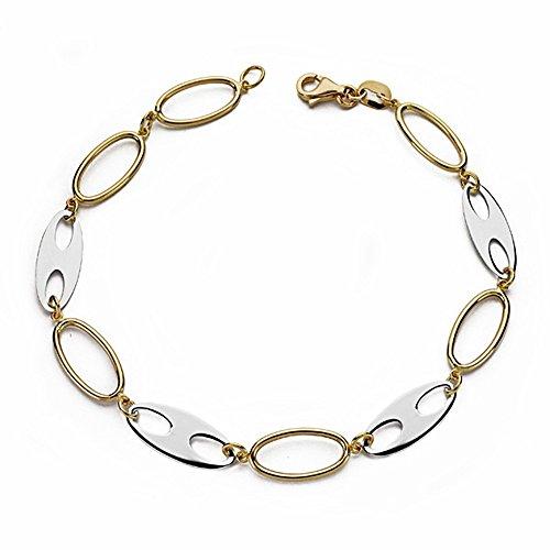 Bracelet 18k 19.5cm bicolor d'or. [AA1699]