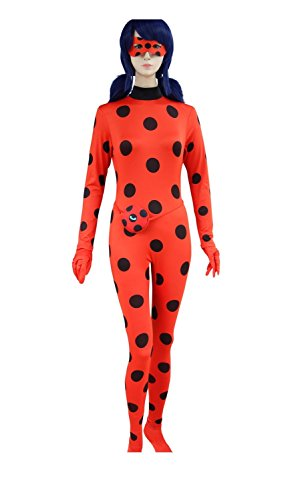 DAZCOS Women's Red for Ladybug Costume Adult Cosplay Jumpsuit (Large) - Adult Lady Bug Costumes