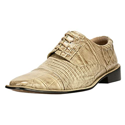 7ca8bf13d Liberty Exotic Men s Crocodile Lizard Print Oxford Hand-Picked PU Leather  Stitched Lace up Dress Shoes Exclusive Collection - Buy Online in Oman.