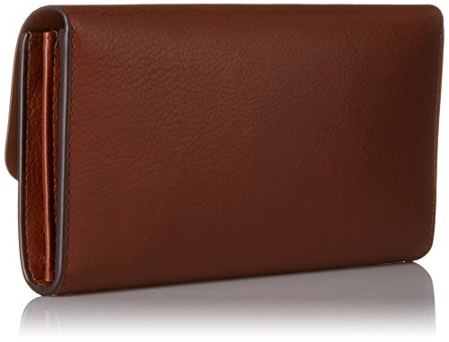 Fossil HAVEN LARGE TRIPLE GUSSET FLAP CLUTCH Brown
