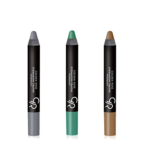 Golden Rose Creamy Eyeshadow Crayon 3-Piece Set for Green Eyes (Sets Eyes Shadow Eye Green)