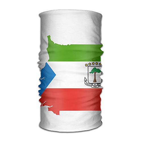Equatorial Guinea Flag Map Original Headband Multi-Function Sports Leisure Headwear UV Protection Sports Neck, Sweat-Absorbent Microfiber Running, Yoga, Hiking ()