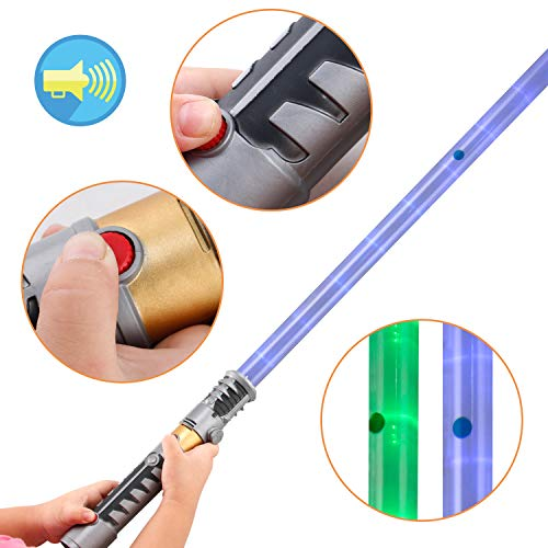 2-in-1 LED Light Up Sword FX Double Bladed Dual Sabers (2 Pack) by Liberty Imports (Image #3)