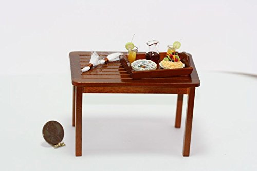 Dollhouse Miniature 1:12 Scale Garden Table w/Dessert Tray by Dollhouse Miniature