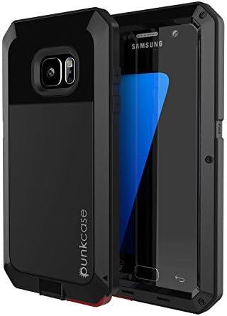 Galaxy S7 ، Punkcase Metallic w / محافظ صفحه نمایش شیشه ای ضد ضربه ضد آب ضد برف ضد اثبات اسلاید پوشش فلزی باریک سامسونگ S7