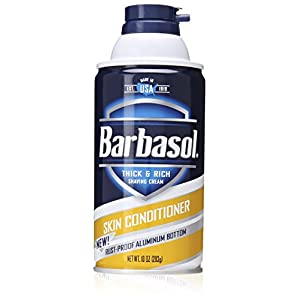 Barbasol Skin Conditioner Thick and Rich Shaving Cream for Men, 10 Ounce