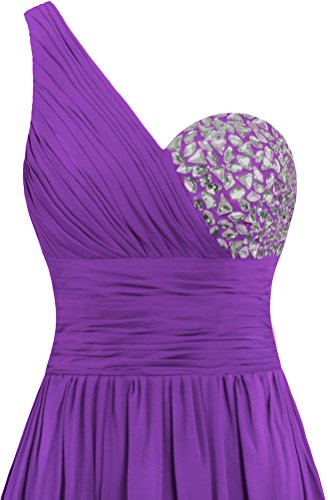Gowns Shoulder ANTS Women's Purple Evening One Dresses Long Chiffon Prom tS78wSq