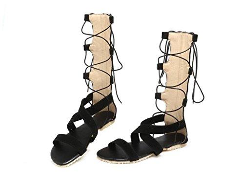 SHFANG shoes Lady Boots Leisure Velvet Noodles Cross Strap Package Leisure Shopping Daily Three Colors 1cm 2 7FtASLuA8J