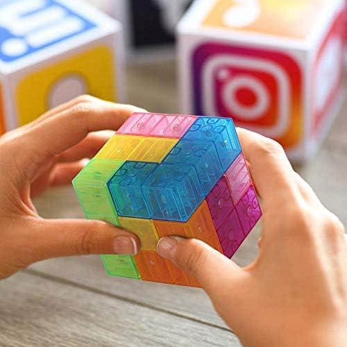 Opaque Dilwe 3x3x3 Cube Magique 3D Puzzle Soulagement du Stress Cube de Vitesse Cube Jouet pour Enfants Jeu de Formation du Cerveau