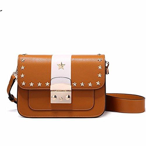 semplice, corrisponde tutto quel sacchetto, moda ampie cinghie spalla borsa,brown brown