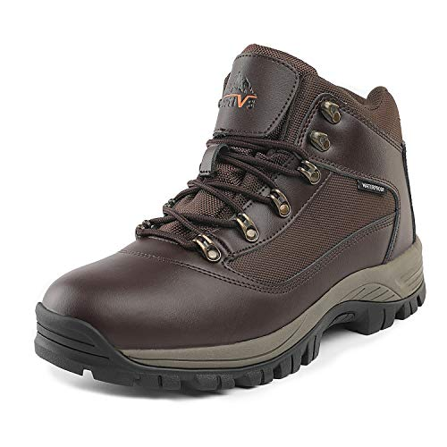 NORTIV 8 Men's Mack_01 Brown Mid Waterproof Hiking Boots Size 9 M - Boot 09 Snow