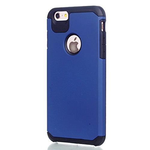 Ukayfe 2 In 1 Funda para iPhone 6/6s plus, Suave Carcasa Caso Parachoques Diseño pintado Patrón para iPhone 6/6s plus,Funda Case Lujo Premium Bling Caja PC Dura Ultra Fina Cubierta Matt Glitter Protec Armadura azul marino