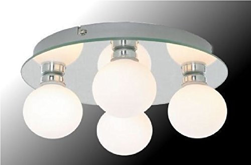 Marco Tielle Hollywood Globe 4 Light Bathroom Mirrored Ceiling Light With White Opal Glass Shades & Marco Tielle Hollywood Globe 4 Light Bathroom Mirrored Ceiling ... azcodes.com