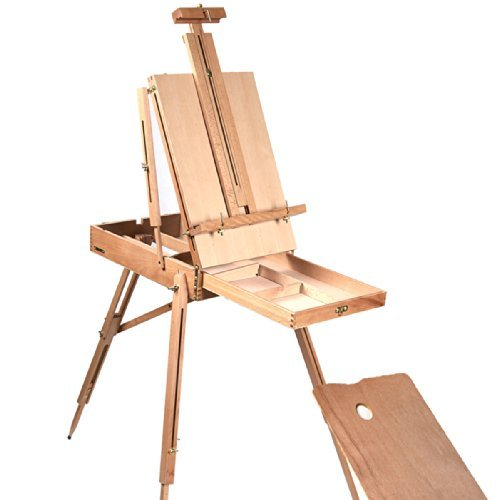 French Easel Wooden Sketch Box Portable Folding Durable Artist Painters - Vinyl Case Folding