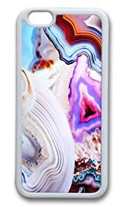Apple Iphone 6 Case,WENJORS Adorable Agate a vivid Metamorphic rock on Fire Soft Case Protective Shell Cell Phone Cover For Apple Iphone 6 (4.7 Inch) - TPU White