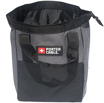 """Porter Cable 10/"""" Black Red Heavy Duty Storage Contractor Tool Bag or Lunch Tote"""
