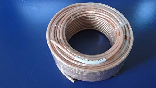(RG142, 100ft Coax Cable, Double Shielded with Tan FEP Jacket)