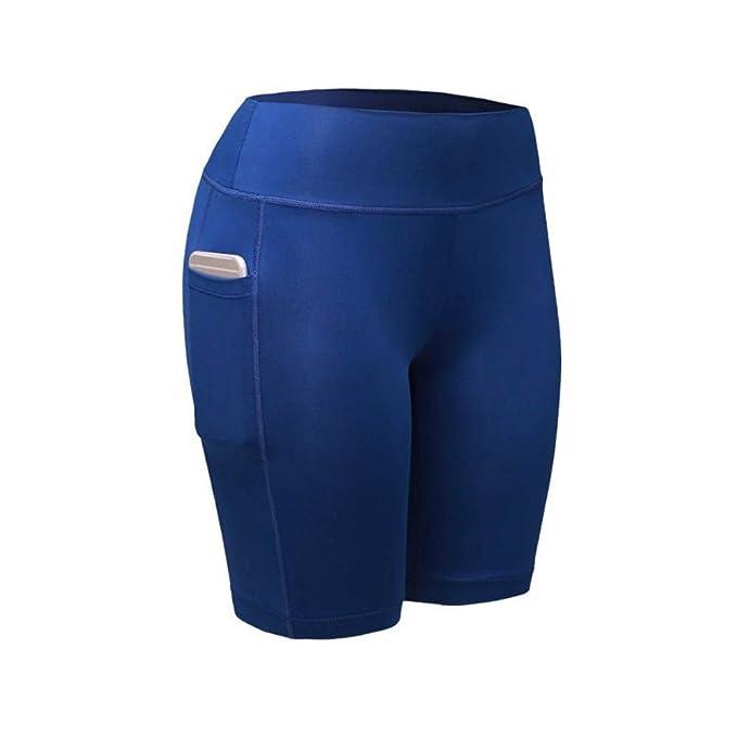fe30658d71 Modaworld Mallas Deportivas Mujer Leggins Yoga Pantalones de yoga de  cintura alta de mujer Pantalones cortos Tummy Entrenamiento Correr Deportes  Shorts ...