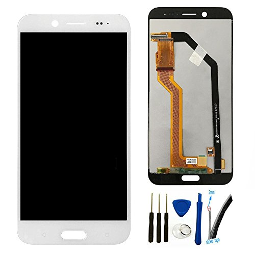 Lcd Evo - LCD Screen Replacement for H TC Bolt / 10 EVO 5.5'' Display Screen digitizer Touch Glass Assembly (White)