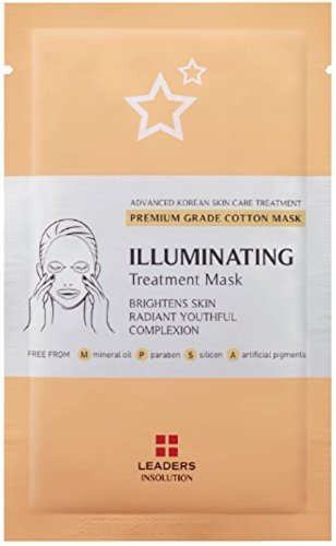 [LEADERS] Illuminating Treatment Mask / Premium Grade Cotton Mask / Brightens Skin - Radiant Youthful Complexion / 10 Sheet Masks