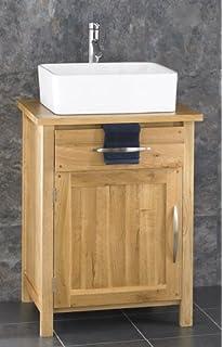 Clickbasin Basin And Cube Solid Oak Single Door Bathroom