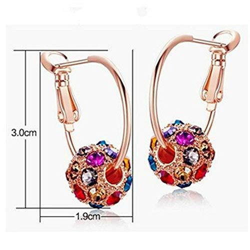 - Round Ball Ear Studs Rhinestone Magical Jewelry Pendant Multicolor Earrings