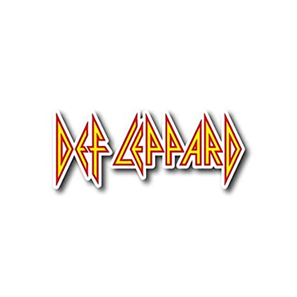Def leppard sticker rock band decal for car window bumper laptop skateboard