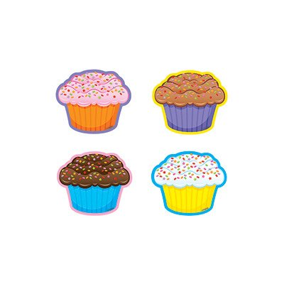 36 Piece Cupcakes/mini Variety Bulletin Board Cut Out Set [Set of 2] -