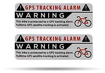 Secyourity Gps Alarm Aufkleber Fahrrad 2 Stück Warnaufkleber Premium Qualität 75 Mm X 25 Mm Silber Von Außen Anzubringen Prävention