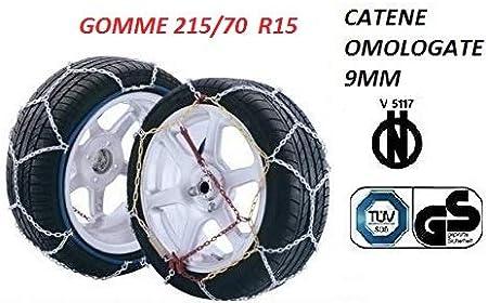 CATENE DA NEVE PER AUTO OMOLOGATE 9 MM MISURA PNEUMATICO 215//70 R15