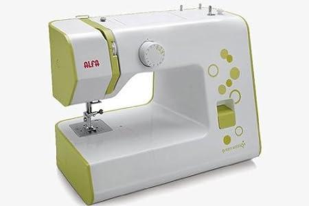 Alfa Next 20 - Máquina de Coser (Máquina de Coser automática, Verde, Costura, 4 mm, Eléctrico, 70 W)