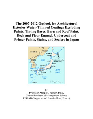 The 2007-2012 Outlook for Architectural Exterior Water-Thinned Coatings Excluding Paints, Tinting Bases, Barn and Roof Paint, Deck and Floor Enamel, ... Primer Paints, Stains, and Sealers in Japan