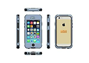 iPhone 6 Plus Case, LERBO Full-body Protective Case Waterproof Shockproof Dustproof Snowproof Case Cover for iphone 6 5.5inch(Gray)