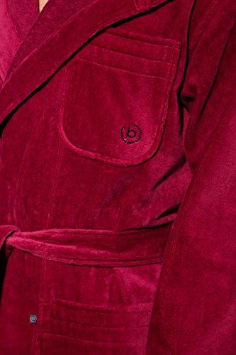 Bugatti, Bademantel Herren mit Kapuze, rot, 100 % Baumwolle