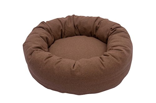 Iconic Pet Luxury Nestlez Round Pet Bed, Small, Light Brown