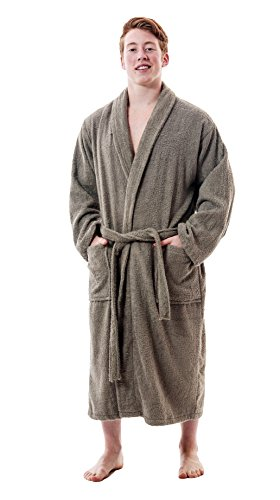(Up2date Fashion Men's Classic Terry Bath Robe, Style TRM54 (S/M, Grey))