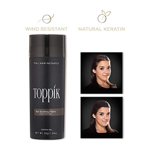 Toppik Hair Building Fibers, Dark Brown, 55 g from TOPPIK