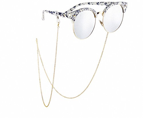 uxART Cross Eyeglass Chain Spectacles Eyewear Retainer/Cord/Holder, Non-slip Sunglass Gold Plating Chains Neck String, - Sunglasses Plating