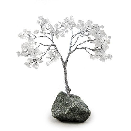 Beverly Oaks Healing Crystals Bonsai Tree ~All Natural Gemstone Tree ~ Money Tree Featuring Healing Stones (Clear Quartz)