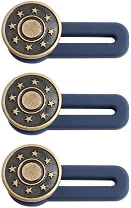LLguz Extendable Buttons Pants Waist Extension Button for Jeans Clothes,Nail-Free Detachable,10 Packs