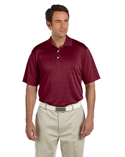 adidas Golf Mens ClimaLite Textured Short-Sleeve Polo A161 -CARDINAL M