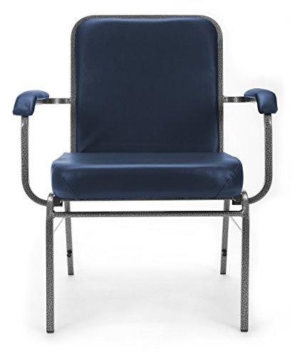 Big Dolly Chair (OFM Big and Tall Comfort Class Series Anti-Microbial/Anti-Bacterial Vinyl Arm Chair, Navy)