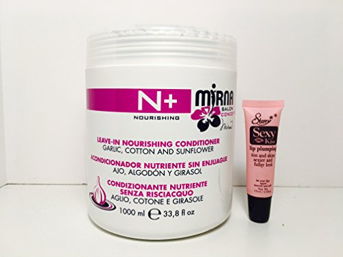 Echos Line Mirna Salon N+ Leave-in Nourishing Conditioner with Garlic, Cotton and Sunflower