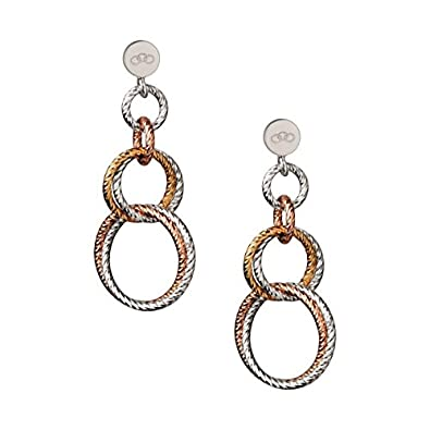 Links of London Aurora Sterling Silver and Rose Gold Vermeil Double Link Earrings nNb8tA3