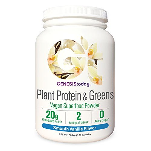 Genesis Today, Plant Protein & Greens, Vanilla, 17.39 Ounce