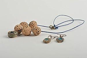 5b625e4bed44 Colgante para el cuello y pendientes de moda bisuteria artesanal ...