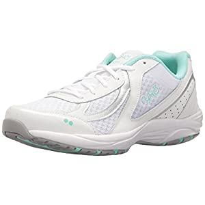 RYKA Women's Dash 3 Walking Shoe, White/Silver/Mint, 9 M US