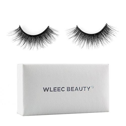 Wleec Beauty 1 Pair Silk Fake Eyelashes, Reusable Super S...