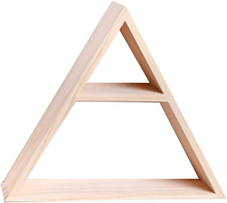 Sumtm para Marco de Fotos Estante de Pared Triangular de Madera para decoraci/ón del hogar