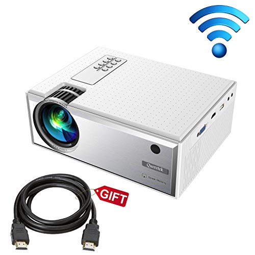Projector, Queretek Video Projector 2800Lux WiFi Direct, HD Projector Mini Home Theater Projector Support 1080P, with…